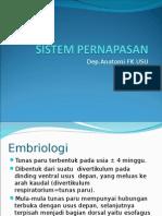 Embriologi Sistem Pernapasan (Anatomi)