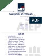 Disertacion Evaluacion de Personal Alvaro Gonzalez Jordan Quinteros Pilar Quiroz.ppt