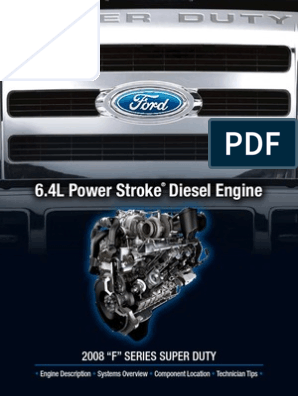 6 4 Power Stroke Manual de motor | Turbocharger | Diesel Engine