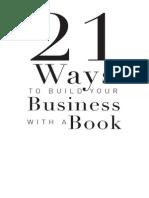 21 Formas de construir tu negocio con un libro