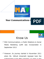 mav communications credentials - without case studies