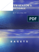 Lenten Season s Message