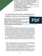 2006 - La Relación Inflación-Desempleo en América Latina...- Peredo, Ludlow, Rodríguez