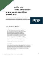 contribucion del Pensamiento Amerindio  a una Cosmopolítica  Americana