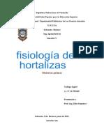 informe fisiología hortalizas