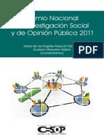 Premio Nacional Investigacion 2011