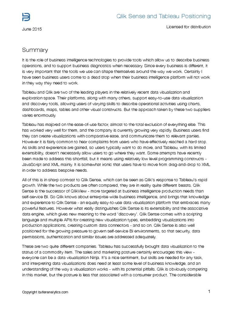 Comparativo Butler Analytics_Qlik Sense | Business