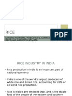 Rice Industry(Component I) - Business Environment