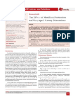 The Effects of Maxillary Protrusion on Pharyngeal Airway Dimensions