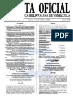 Sumario Gaceta Oficial 39.370
