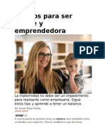 5 Pasos Para Ser Madre y Emprendedora