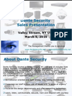 Dante Security Sales Presentation 3-5-2015