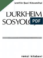 Nurettin Şazi Kösemihal - Durkheim Sosyolojisi