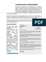 Carta Presentacion y Curriculum Vitae