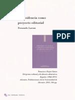 """LARRAZ, Fernando, """"La disidencia como proyecto editorial"""", Represura nº1, segunda época, 2015."""