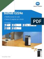 Catalogo Bizhub c 224 e