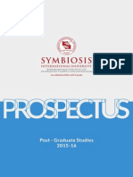 Symbiosis University PG Prospectus 2015 16