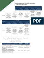 Calendário de Exames Nacionais Do Ensino Secundário