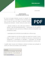 Pressrelease BES - Apoio à Região Autónoma da Madeira