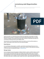 Precycling Müllvermeidung Statt Wegschmeißen Cradle to Cradle