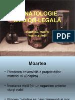 TANATOLOGIE Medico Legala