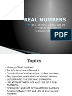 Real Numbers Ppt