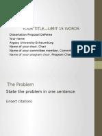 Powerpoint Dissertation Proposal Defense Outline