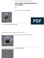 Ocultar y Mostrar Objetos Con Tecla h Para Editar Mejor-blender