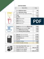 Contoh Desain Daftar Harga Sederhana