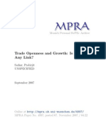2007 - Trade Openess & Growth, Is There Any Link - Prabirjit
