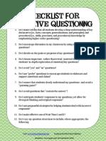 Higher Order Thinking Checklist