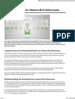Vitamin B12 Zahncreme
