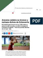 Aravena celebra su bronce y rechaza dichos de Echeverría _ Panamericanos _ LA TERCERA