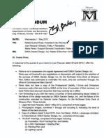 PARKS DEPARTMENT REQUEST