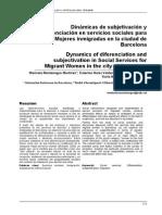 Dinámicas de Diferenciación y Subjetivación Para Mujeres Migradas