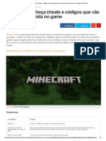 Minecraft  Cheats e Códigos