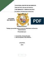 Monografia Final de Seminario de Derecho Administrativo Cabrera