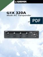 GTX 320A Transponder Pilots Guide