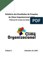 Relatorio Da Result Da Pesq de Clima Organizacio