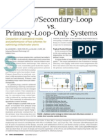 HPAC Primary Secondary Loop vs. Primary Loop Only Systems