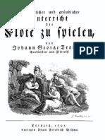Tromlitz Ausführlicher Und Gründlicher Unterricht, die Flöte zu spielen 1791