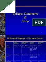 Epilepsy Syndromes and Sleep