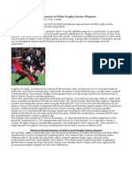 Physiological Requirements of Elite Rugby Union Players