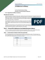 8.1.2.8 Lab - Converting IPv4 Addresses to Binary(1)