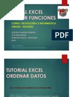 Tutorial Excel Noveno Insertar Funciones