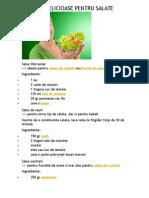 4 Sosuri Delicioase Pentru Salate