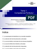 Tema 1 Competencia Perfecta I