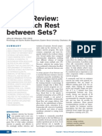 A Brief Review How Much Rest Between Sets .9