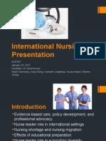 international nursing presentation-NUR587 v. 2