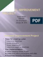 Personal Improvement Project -- Mateo